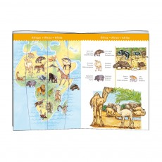 Djeco Puzzle Wolrd's animals and booklet-listing
