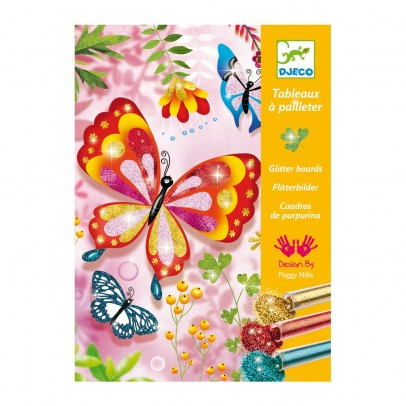 Djeco Butterflies - Glitter boards-product