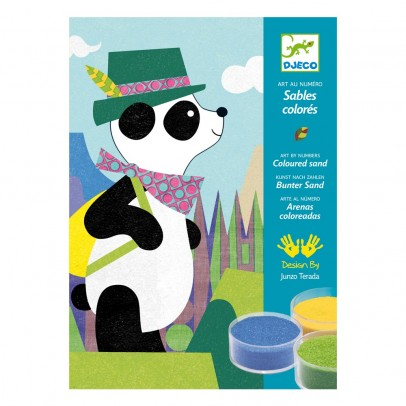 Djeco Panda and friends - Coloured sand-product