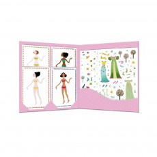 Djeco 4 seasons dress - Stickers and paper dolls-product