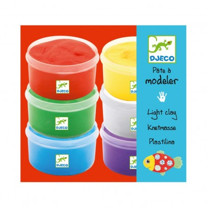 Djeco 6 Pots de pâtes à modeler-product