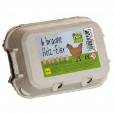 Erzi Box of 6 brown eggs-listing