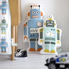 Ferm Living Coussin Mr Small Robot-listing
