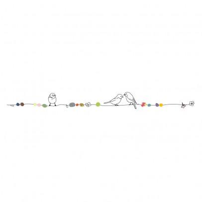 MIMI'lou Sticker frise perles et oiseaux-listing