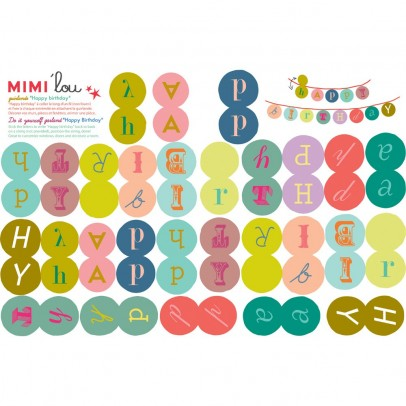 MIMI'lou Happy birthday garland kit-product