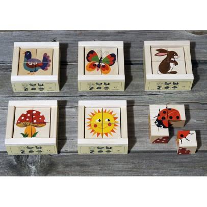 Bass & Bass Cubes 4 pièces natures-listing