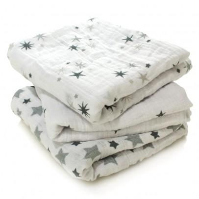aden + anais  Manta - Estrellas grises - Pack de 3-listing