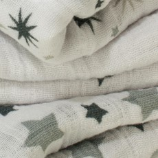 aden + anais  Wickeltuch - graue Sterne - 3-er Pack-listing