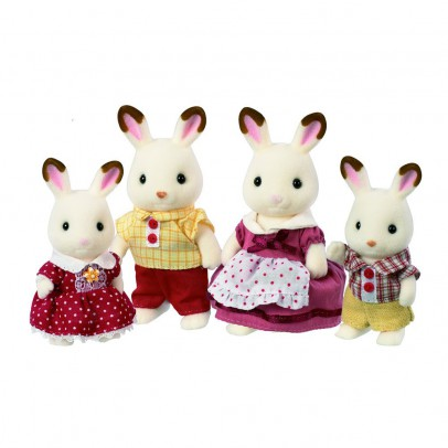 Sylvanian  Chocolate Rabbit Family-listing