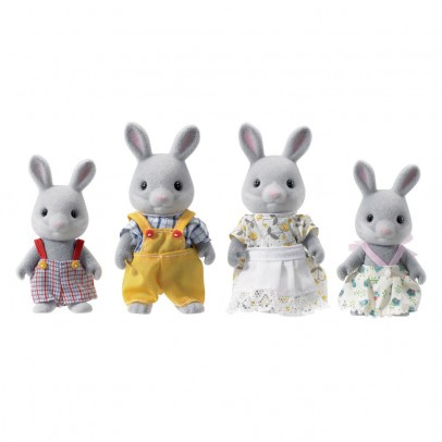 Sylvanian Grey Rabbit Family-listing