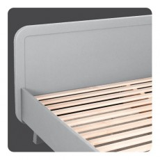 Laurette Round Bed 120x200cm - Light Grey-listing
