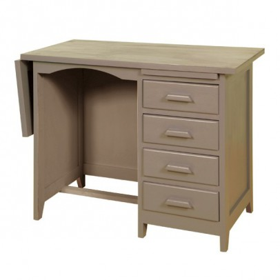 Laurette Desk with Drawers - Taupe-listing