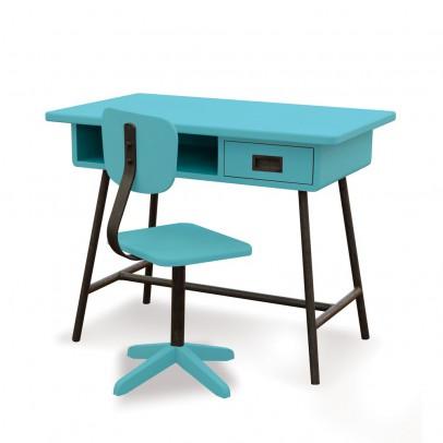 Laurette Bureau La classe et sa chaise d'atelier - Turquoise-listing