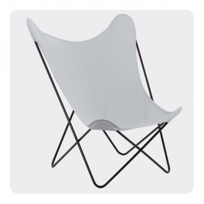 Laurette Butterfly Chair - Light Grey-listing