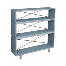 Laurette Bookcase 'Millefeuille' Mid gray-listing