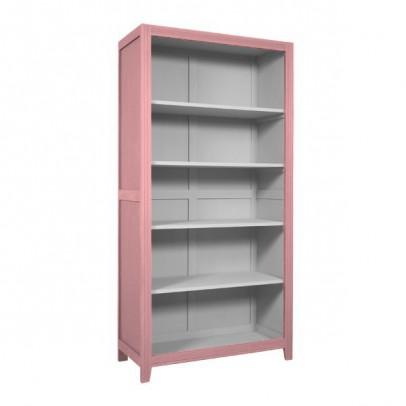 Laurette Parisian Bookcase - Vintage Pink/Light Grey-listing