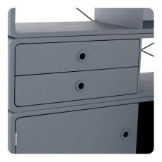 Laurette Enigma Bookcase - Dark Grey/Bubblegum-listing