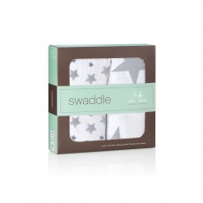 aden + anais  Pack of 2 Grey Stars Maxi Swaddle-listing