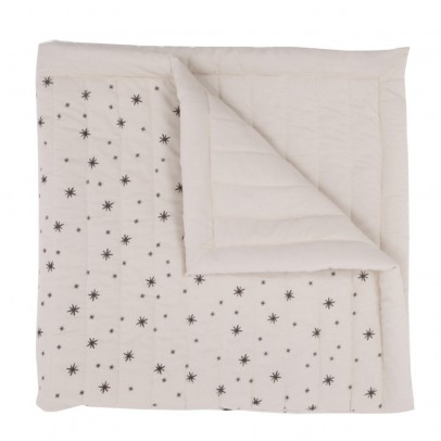 April Showers Ecru Quilted Plaid - Grey Stars-listing