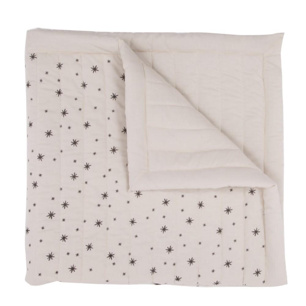April Showers Plaid matelassé Ecru - Etoiles grises-product