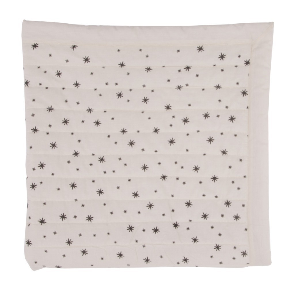 Ecru Quilted Plaid - Grey Stars-product