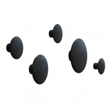 product-Muuto Set of 5 hooks Dots - black