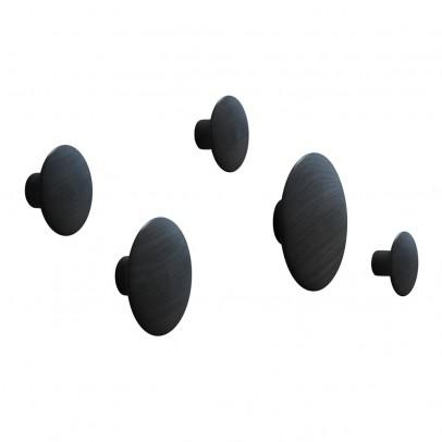 Muuto Set de 5 patères Dots - Noir-listing