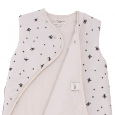 April Showers Off-white baby sleeping bag - grey stars-listing
