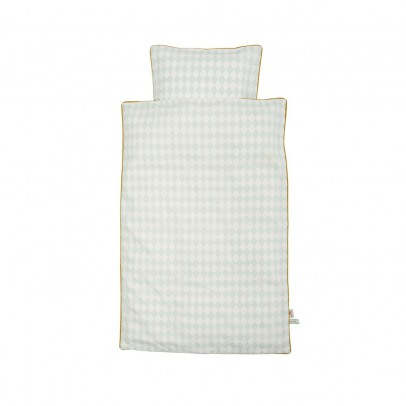Ferm Living Parure de lit Harlequin - Vert menthe-listing