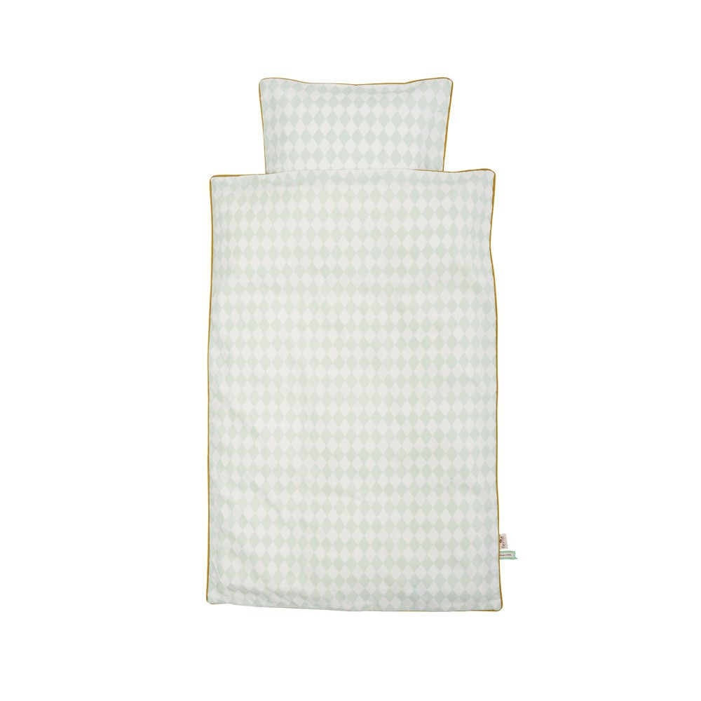 Ferm Living Harlequin bed linen set - mint green-product