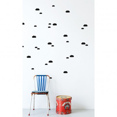 Ferm Living Cloud sticker - black -product