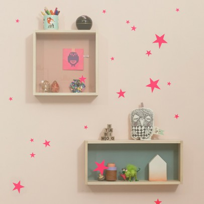 Ferm Living Group of stars sticker - fluorescent pink -product