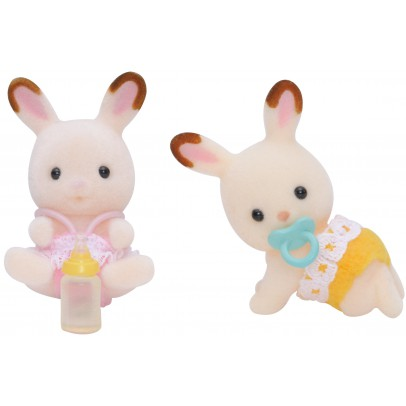 Sylvanian Chocolate Rabbits Twin Babies-listing
