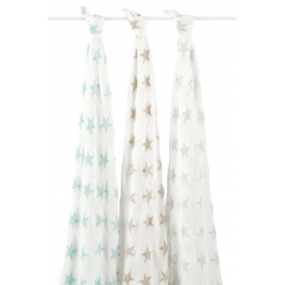 aden + anais  Organic swaddle - pastel stars - pack of 3-listing