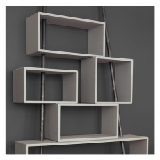 Laurette 'La folie' bookshelf Light grey-listing