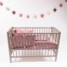 Combelle Babybett 60x120 cm - lackiert Hellgrau-listing