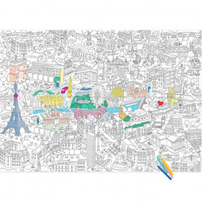 Omy Póster Colorear Gigante París-product