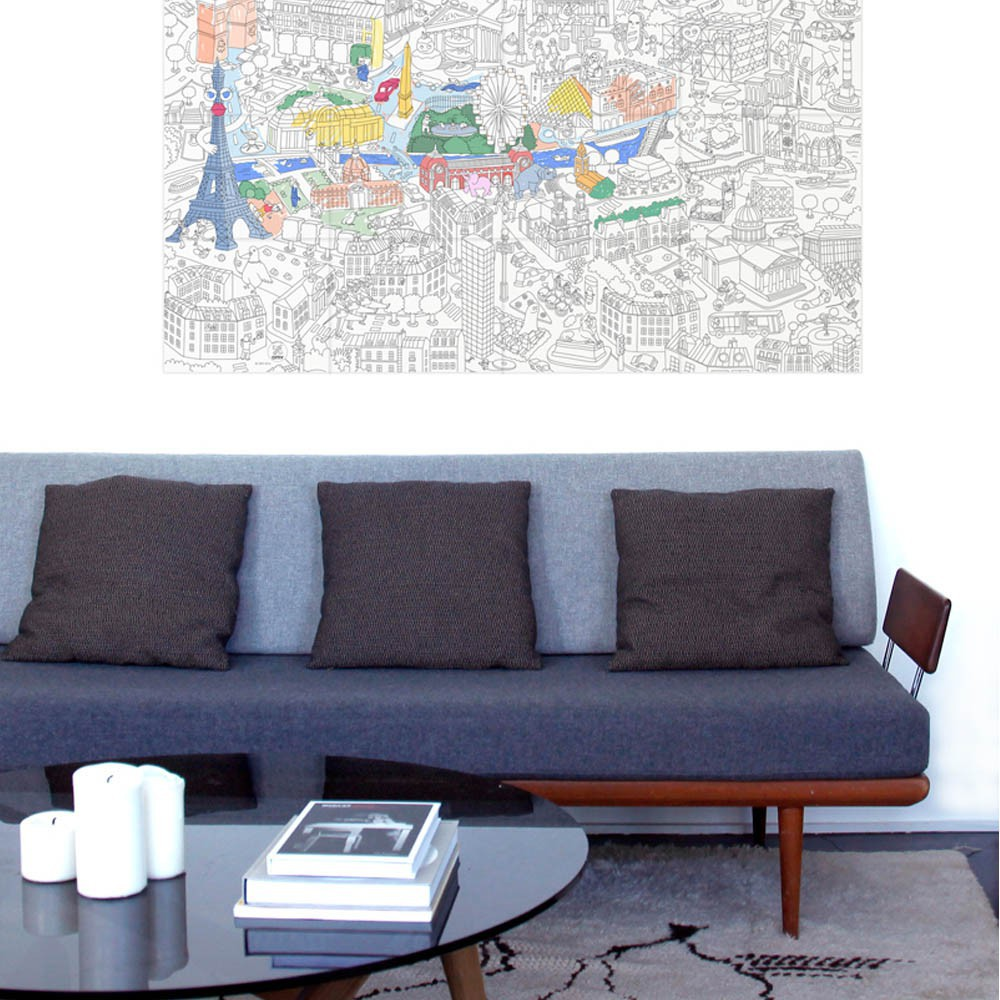 Omy Giant Paris Colouring-in Poster-product