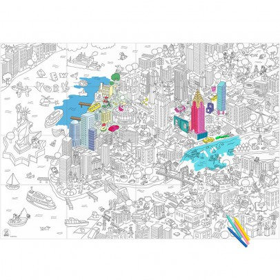 Omy Disegno gigante da colorare New-York-listing