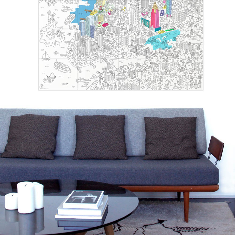 Omy Giant New York Colouring-in Poster-product