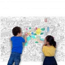 Omy Disegno gigante da colorare Londra-listing