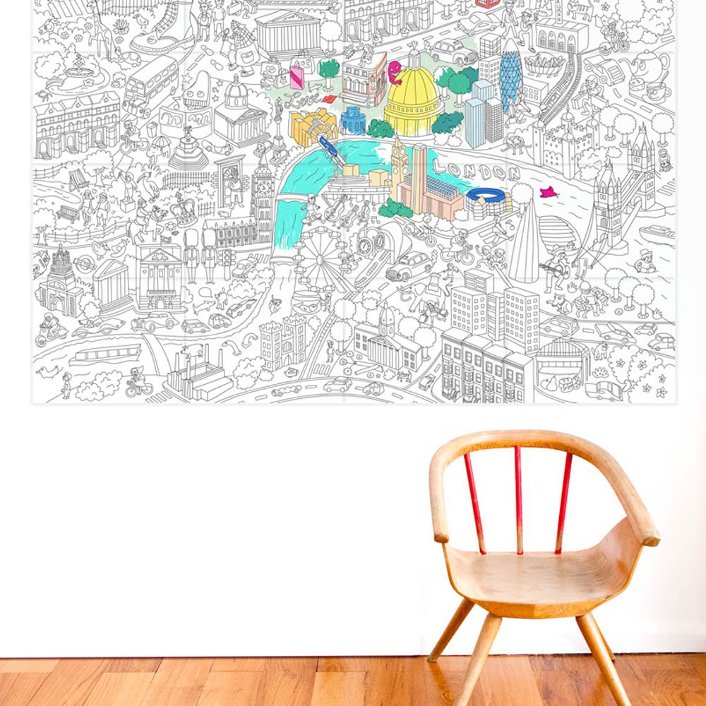 Giant London Colouring-in Poster-product