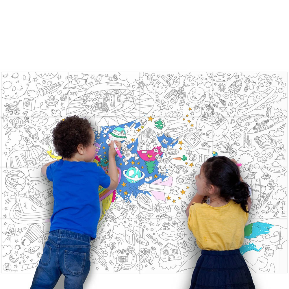 Omy Giant Outer Space Colouring-in Poster-product