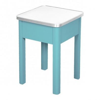 Laurette Tabouret de cirage aluminium - Turquoise-listing