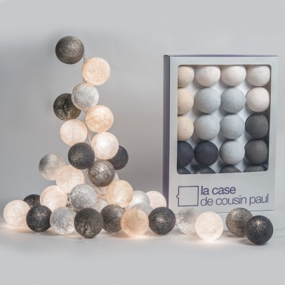 La case de cousin Paul Brooklyn garland - 20 luminous balls-listing