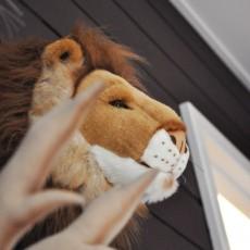 Wild & Soft Bibib Trophée peluche Lion-listing