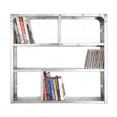 Tse & Tse Bibliothèque en inox étagère de poche-listing