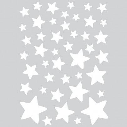 Lilipinso Stickers - sheet of white stars-listing