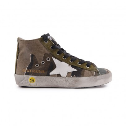 Golden Goose Francy camouflage fur-lines trainers-listing