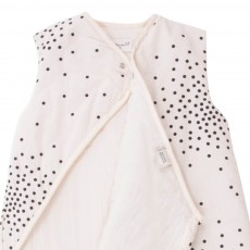 April Showers Cream baby sleeping bag - black dots-listing
